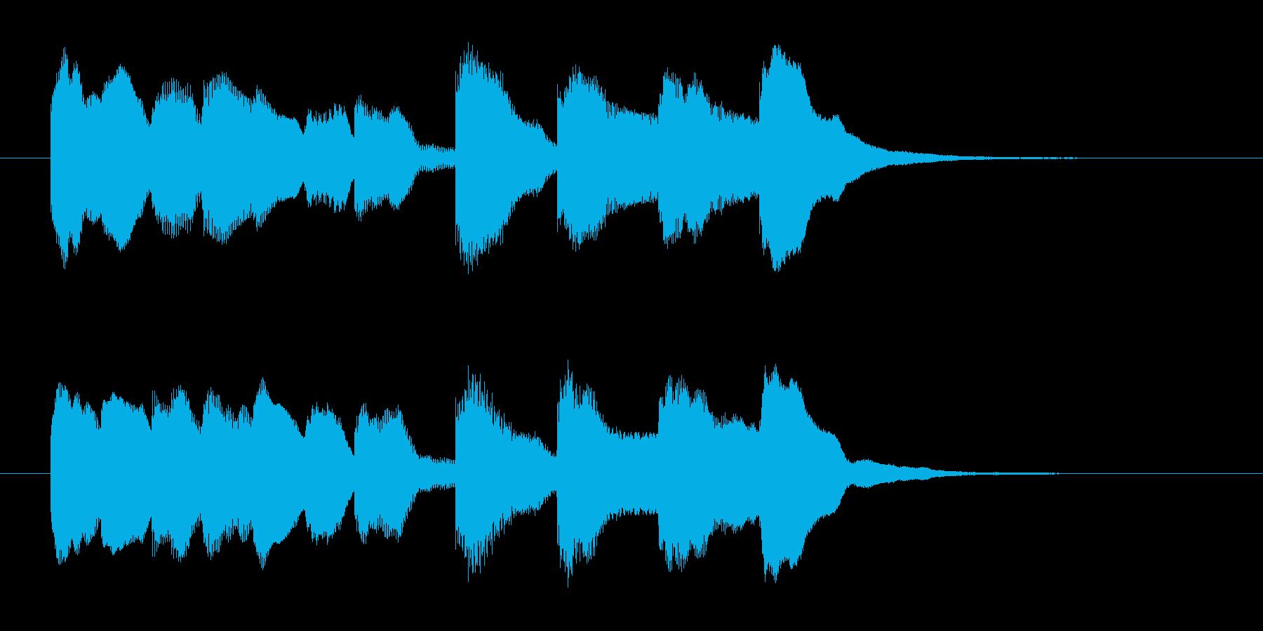 場面転換などに。可愛らしいジングルその1の再生済みの波形
