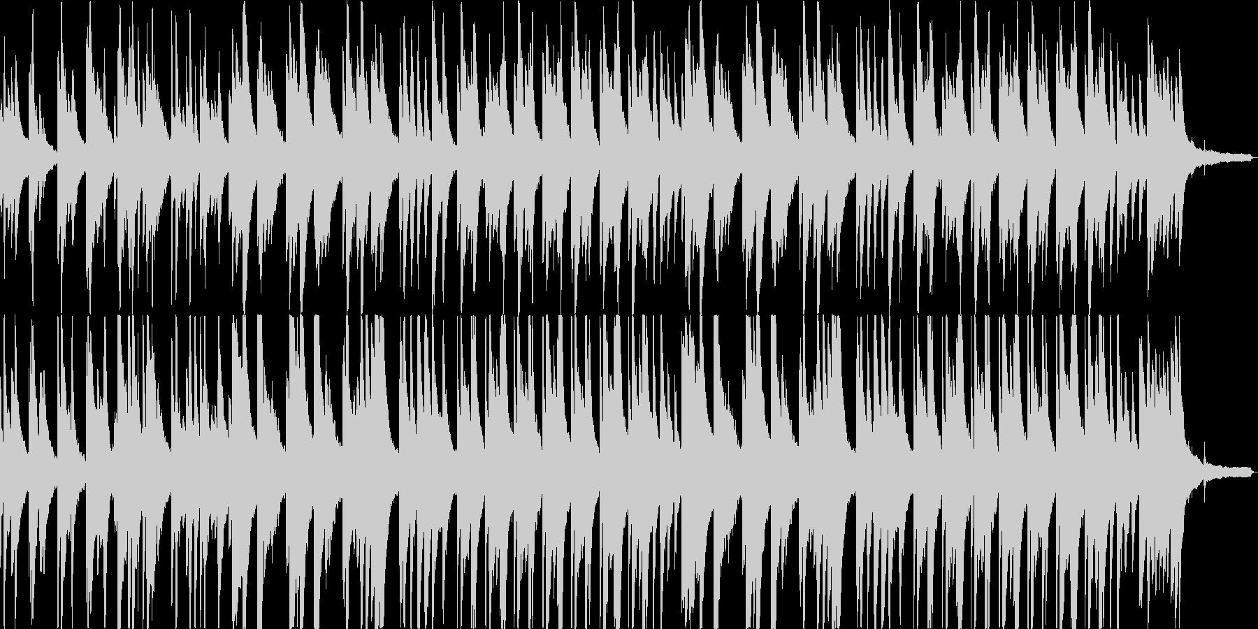 悲しみに包まれるピアノバラードの未再生の波形