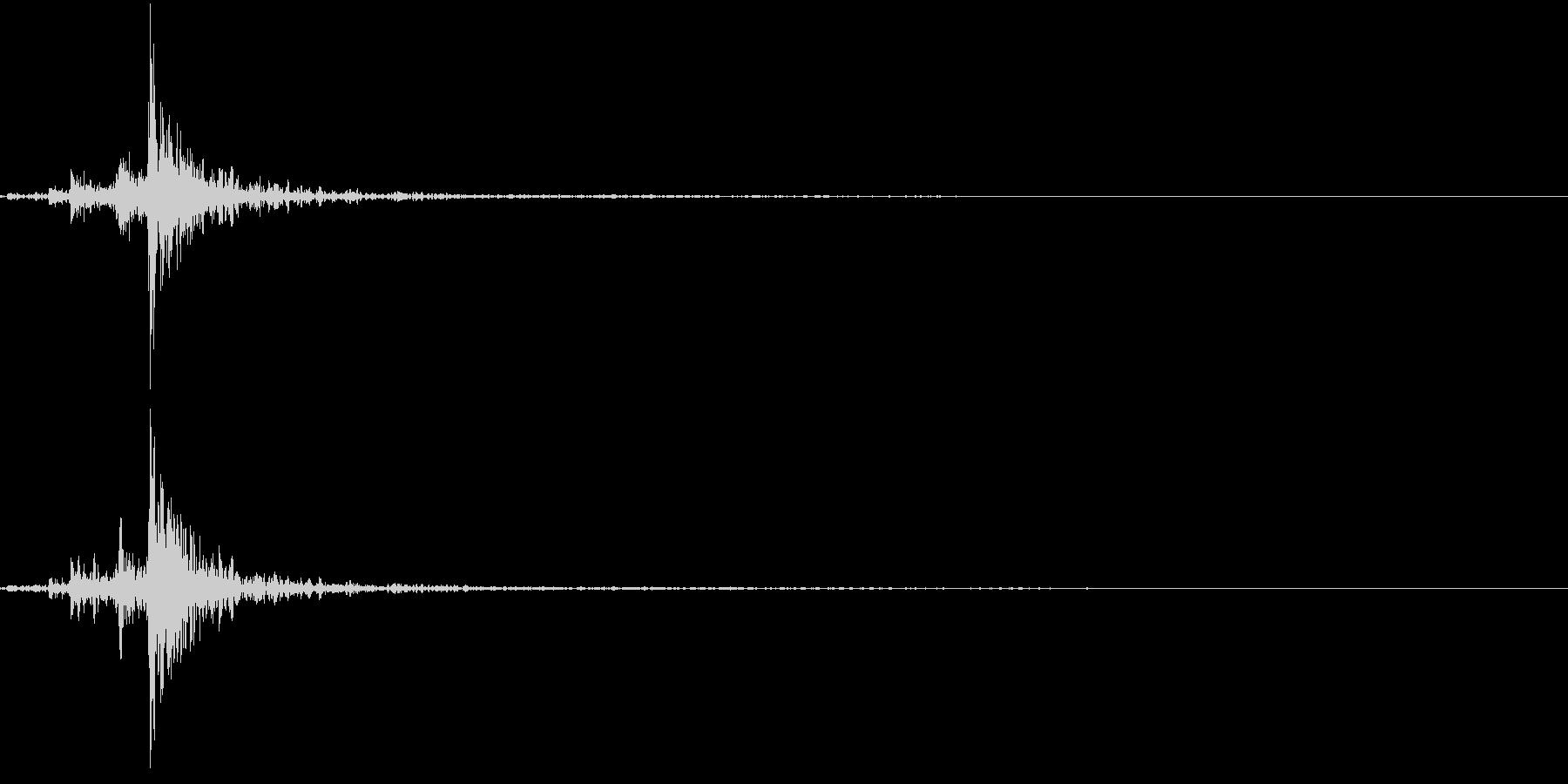 電子レンジを閉めるの未再生の波形