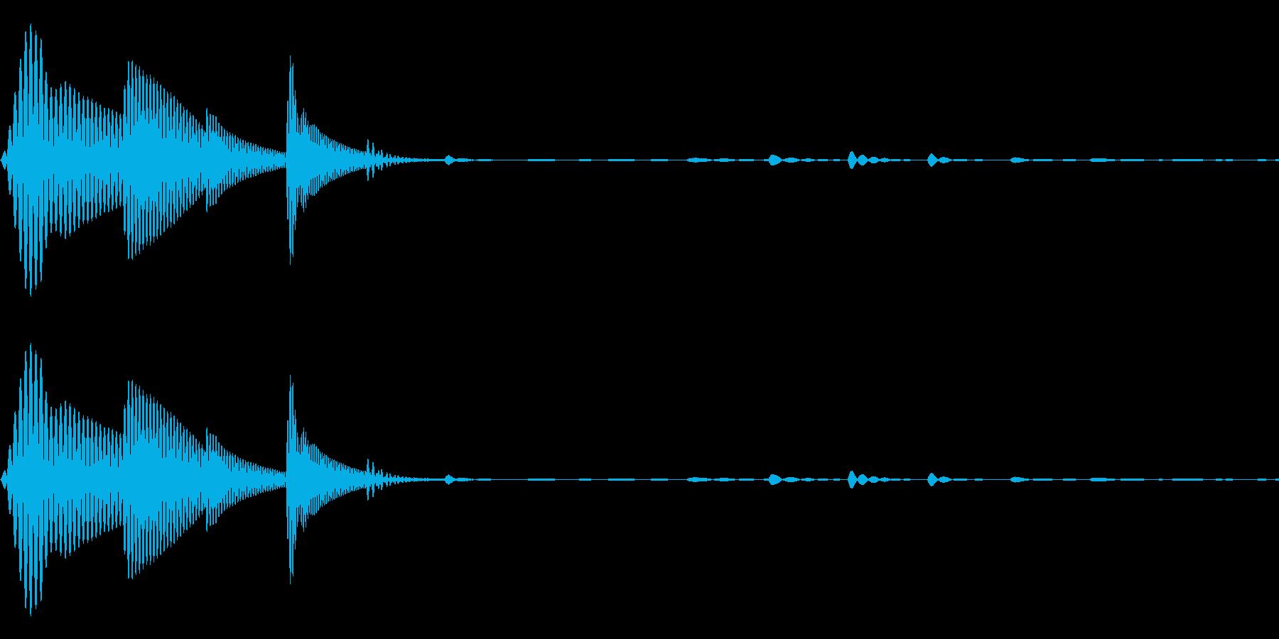 ピトッ(ひっつく・足音・スタンプ)の再生済みの波形