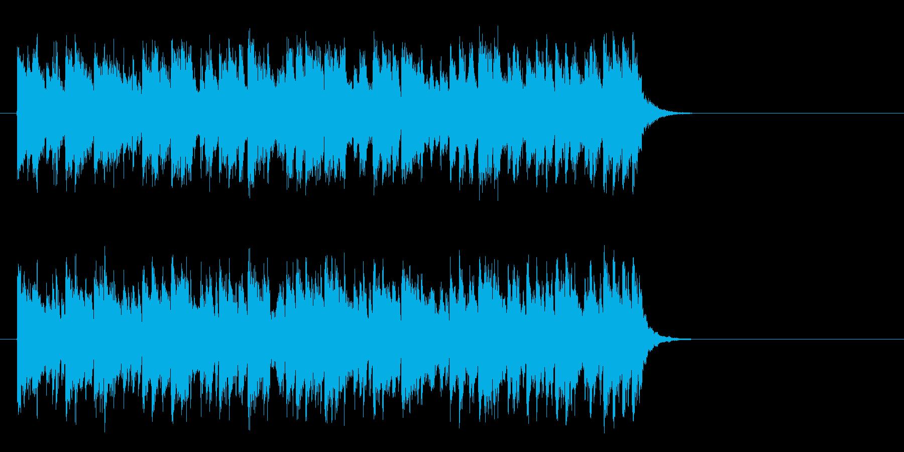 リゾート風なフュージョン(サビ)の再生済みの波形
