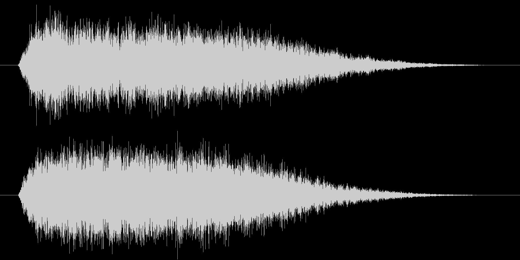 シュワーというシンセ音の未再生の波形