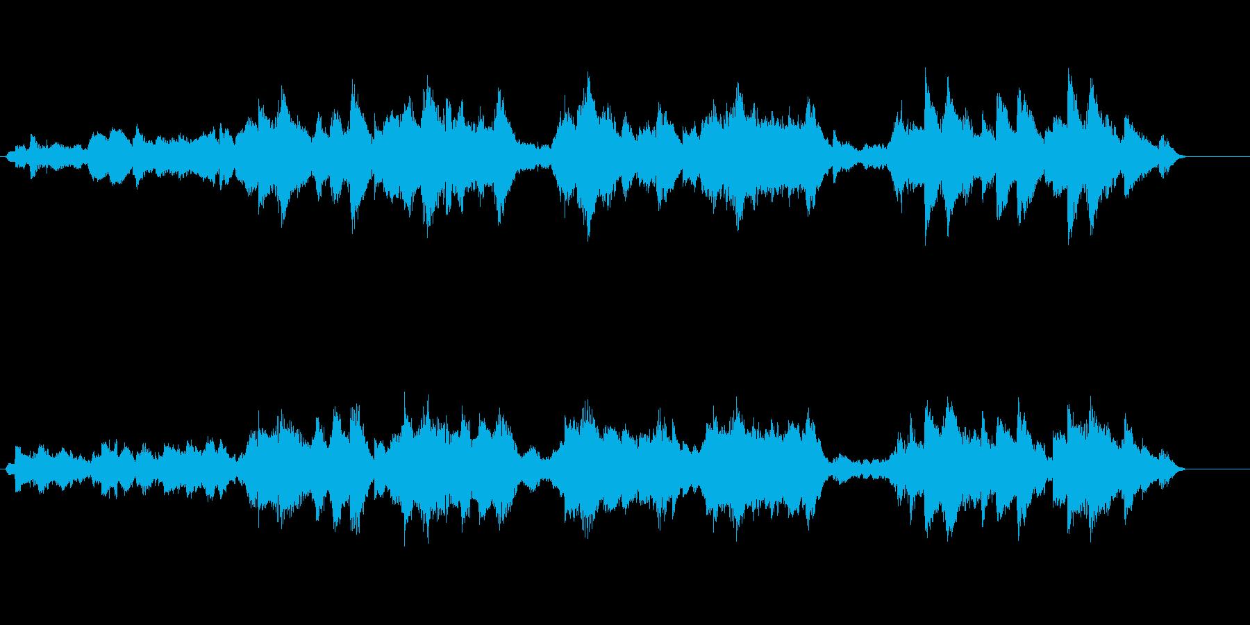 浮遊感のある幻想的なBGMの再生済みの波形