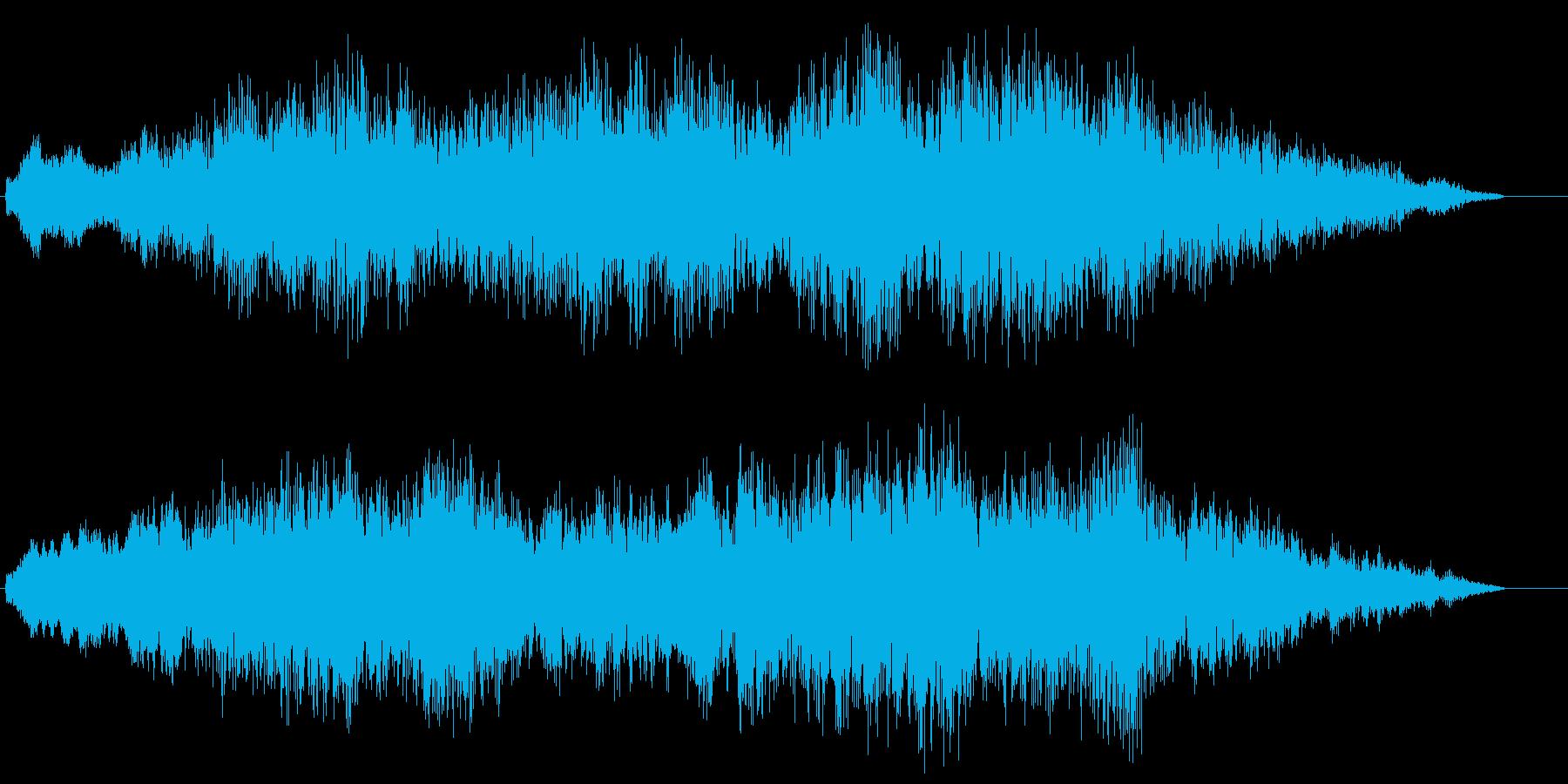 金属的の再生済みの波形