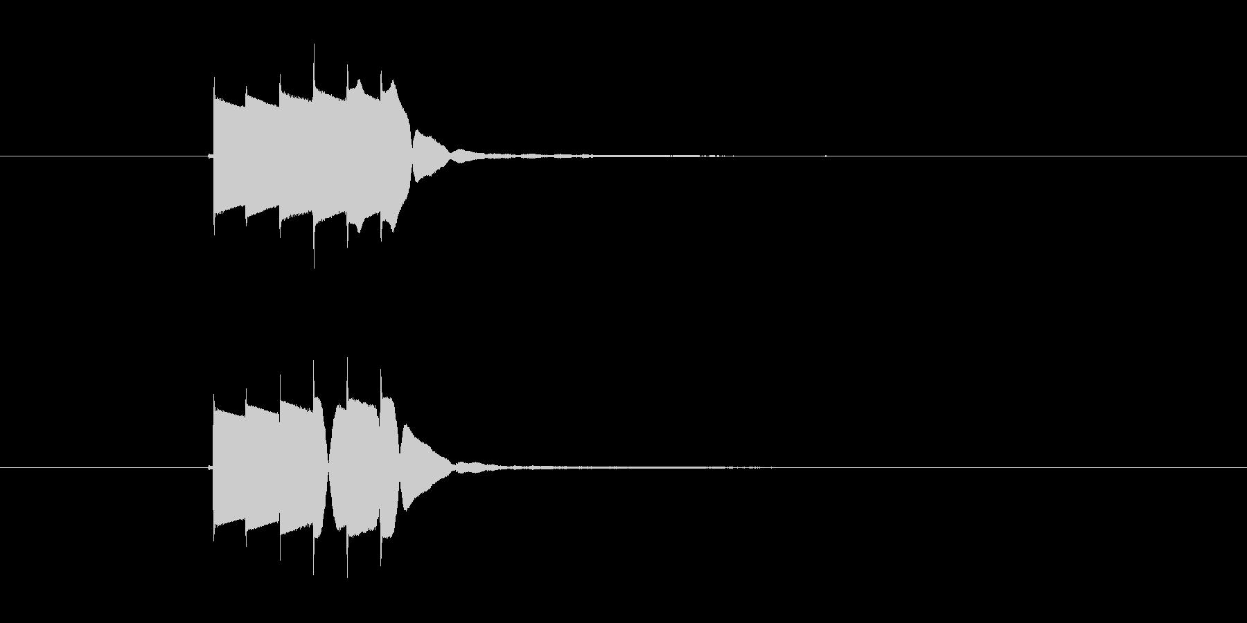 ピロリロリン(決定音)の未再生の波形