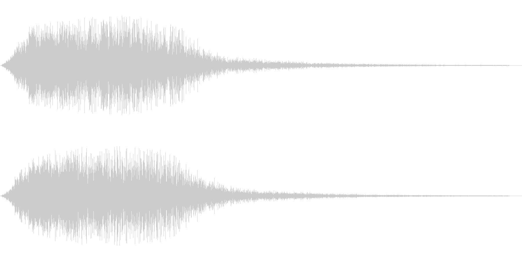 キラキラ系(ダウン)の未再生の波形