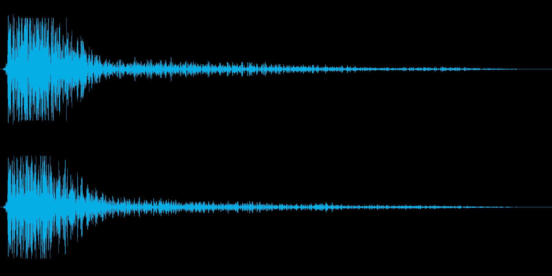 ドゥオーン(低音の打撃音と反響音)の再生済みの波形