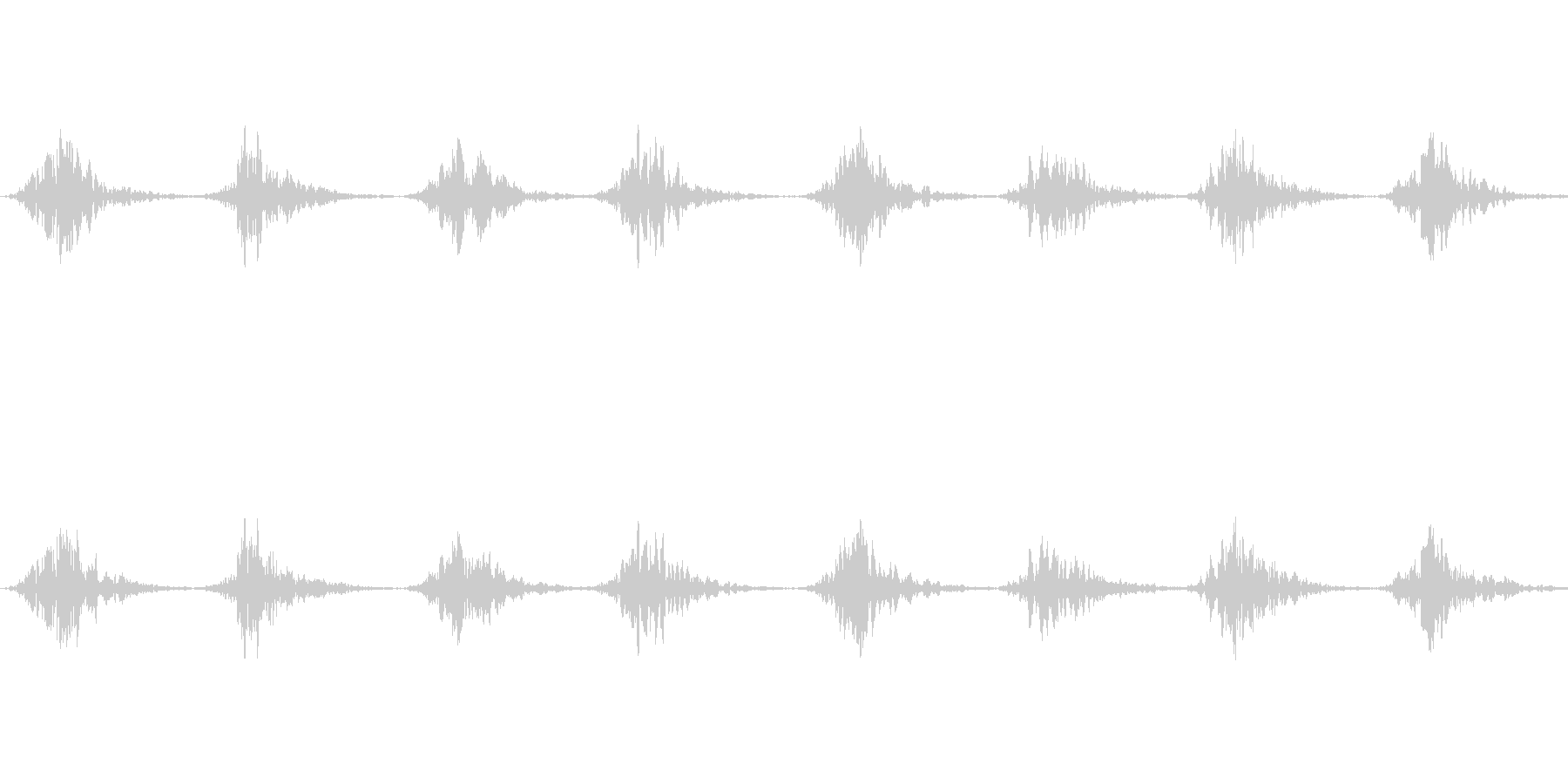 バッサバッサ(大きな翼が羽ばたく音)の未再生の波形