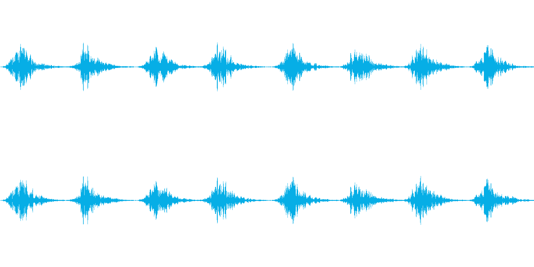 バッサバッサ(大きな翼が羽ばたく音)の再生済みの波形