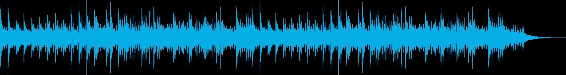 透明感のあるピアノソロBGM_01の再生済みの波形
