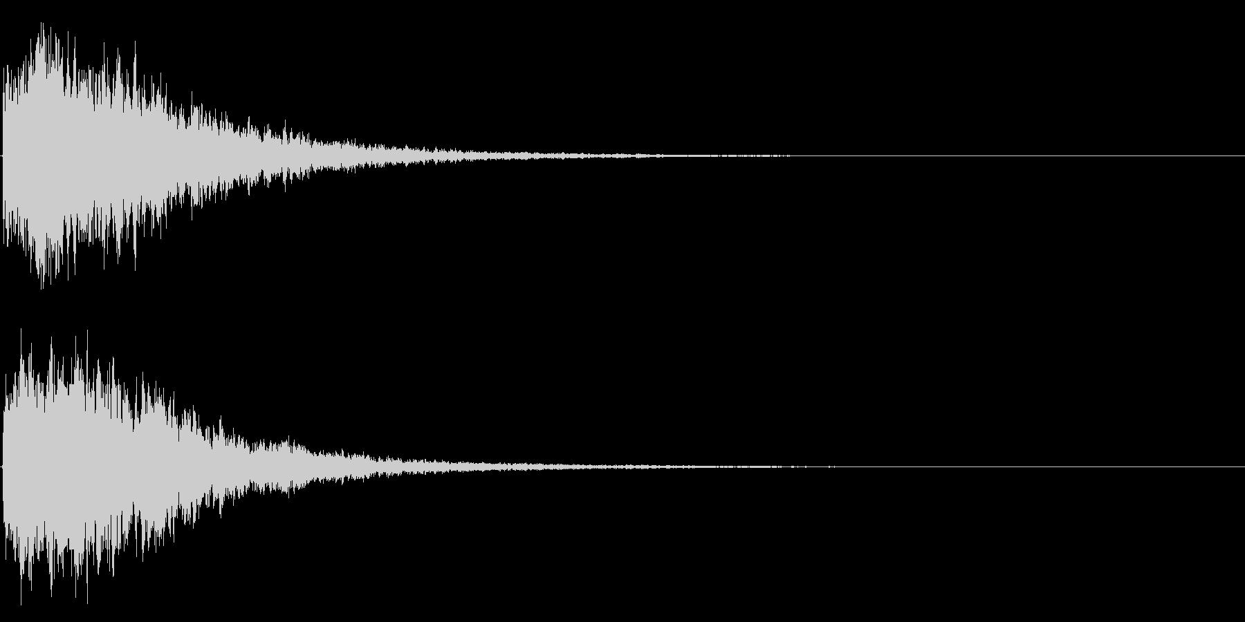 ゲームスタート、決定、ボタン音-134の未再生の波形