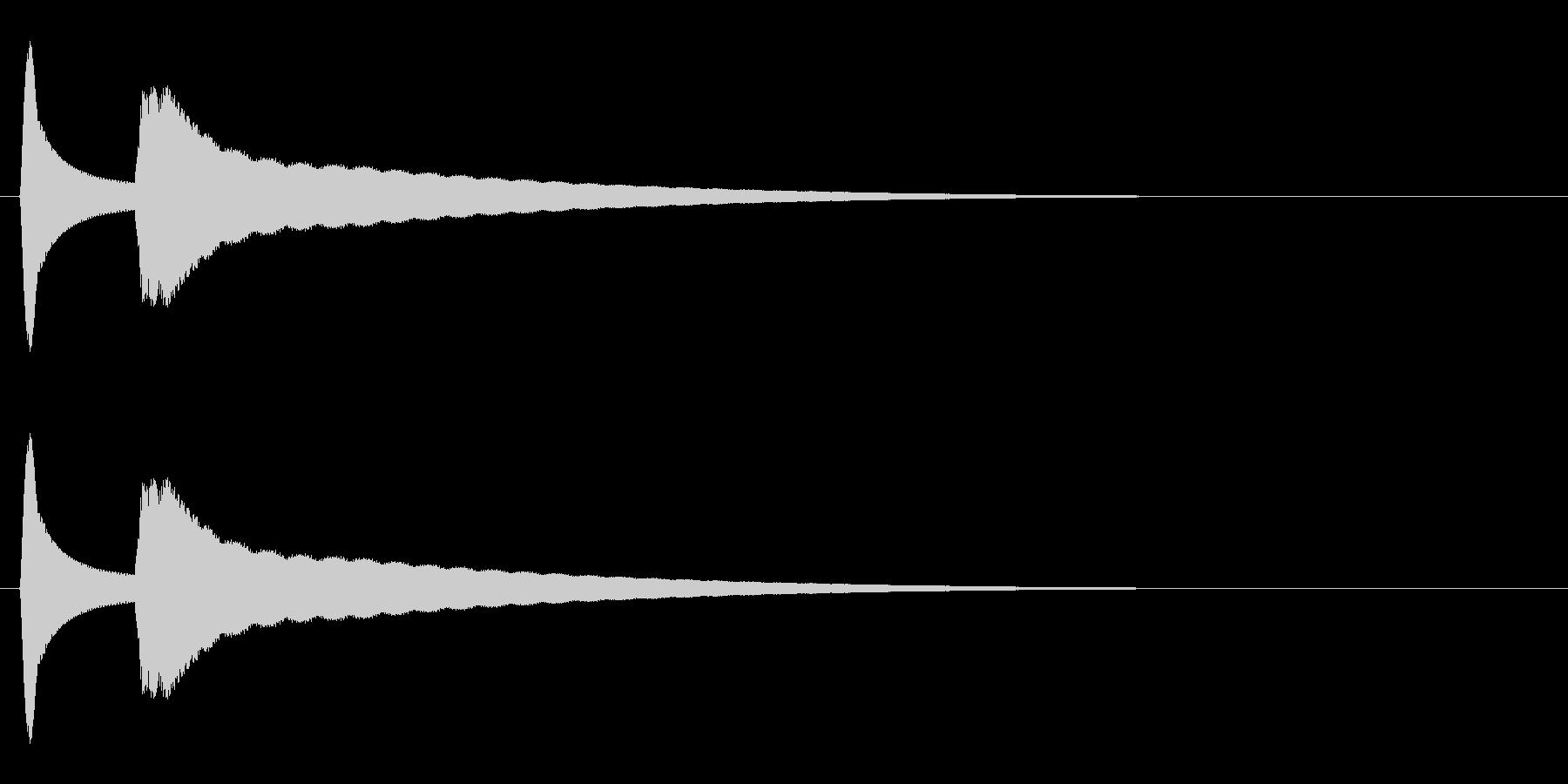 閃く(キュピーン/豆電球/発明)の未再生の波形