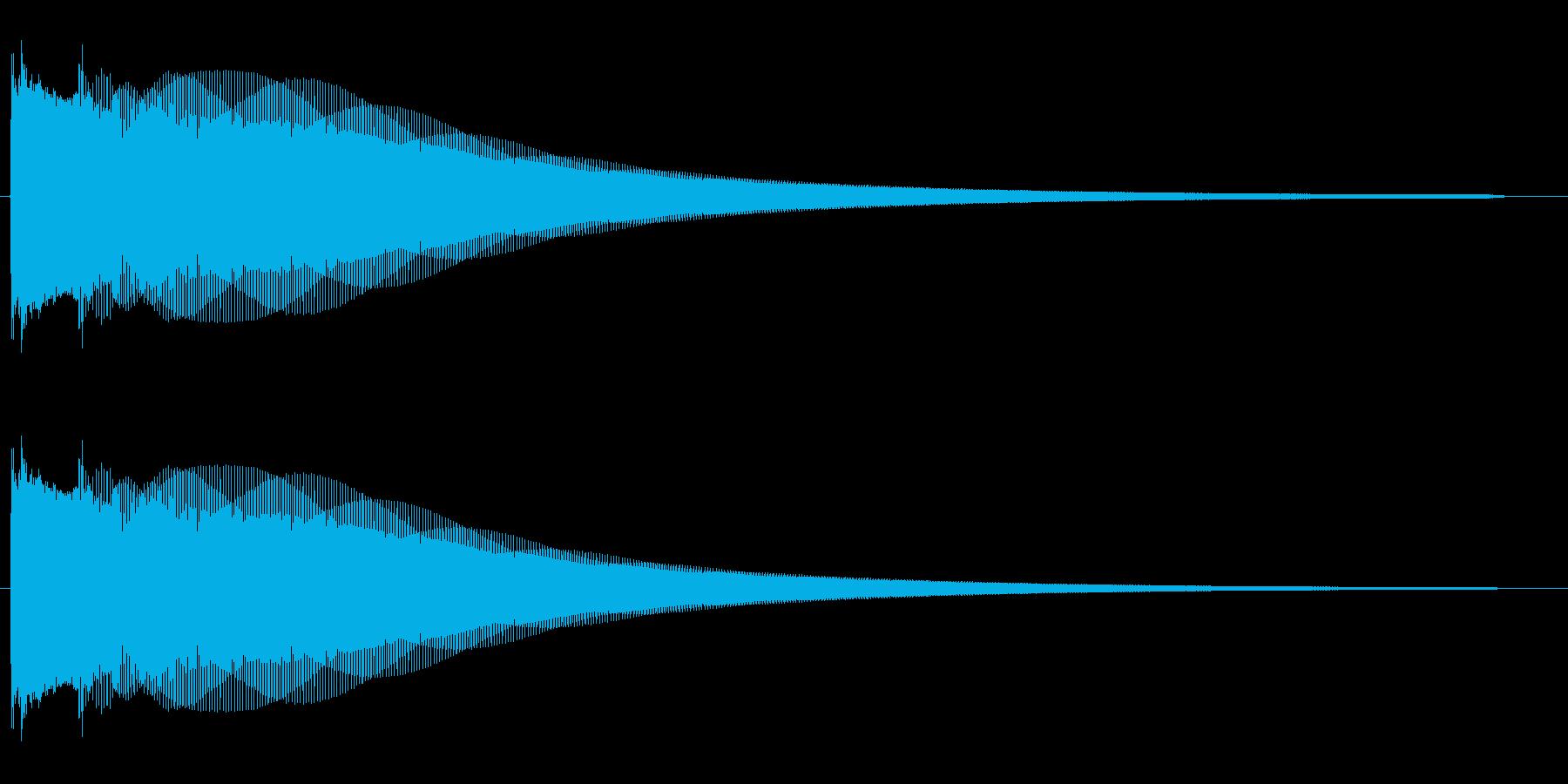 チョリーン キラーン コキーンの再生済みの波形