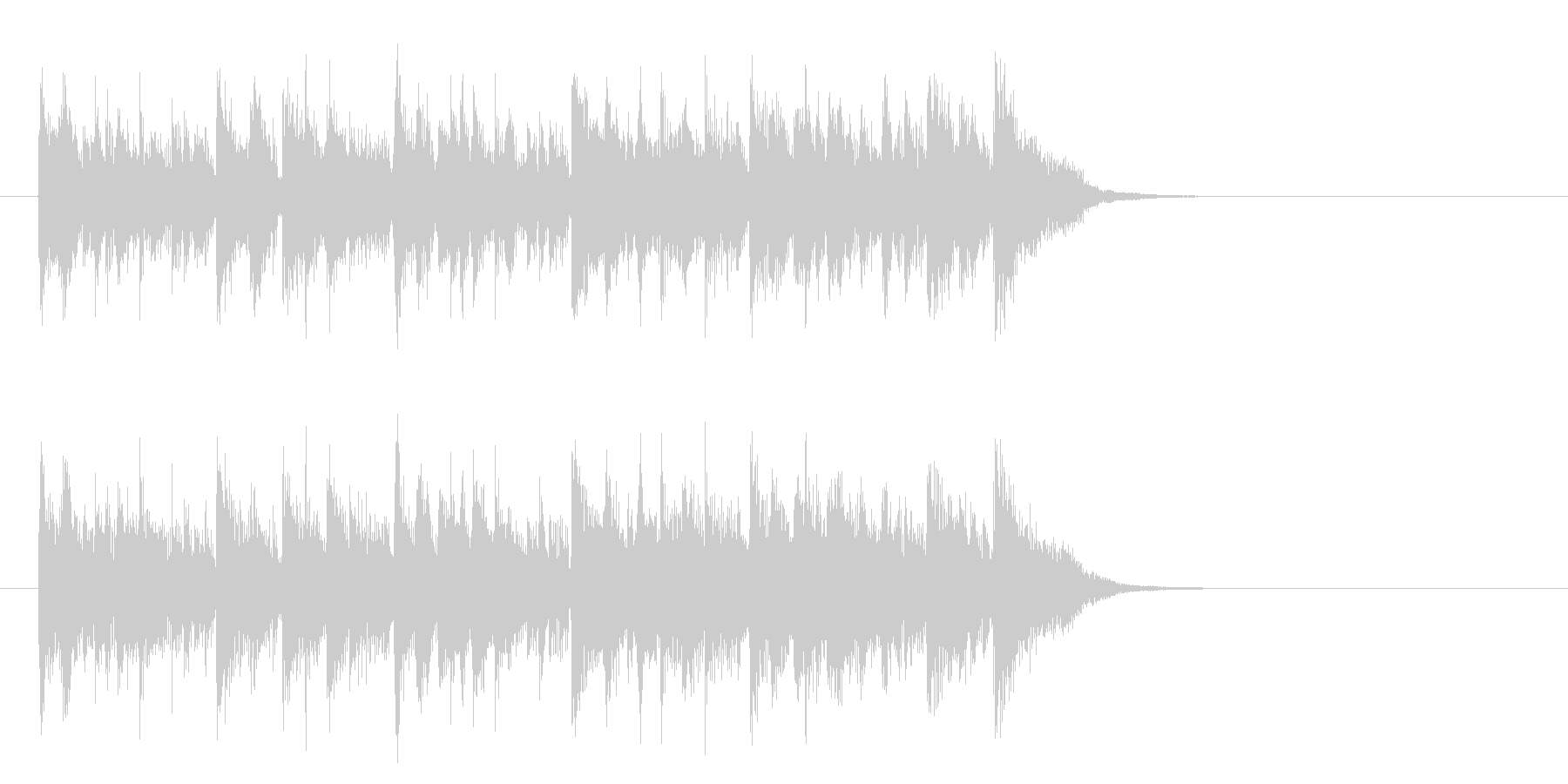 メロウなフュージョン(サビ)の未再生の波形