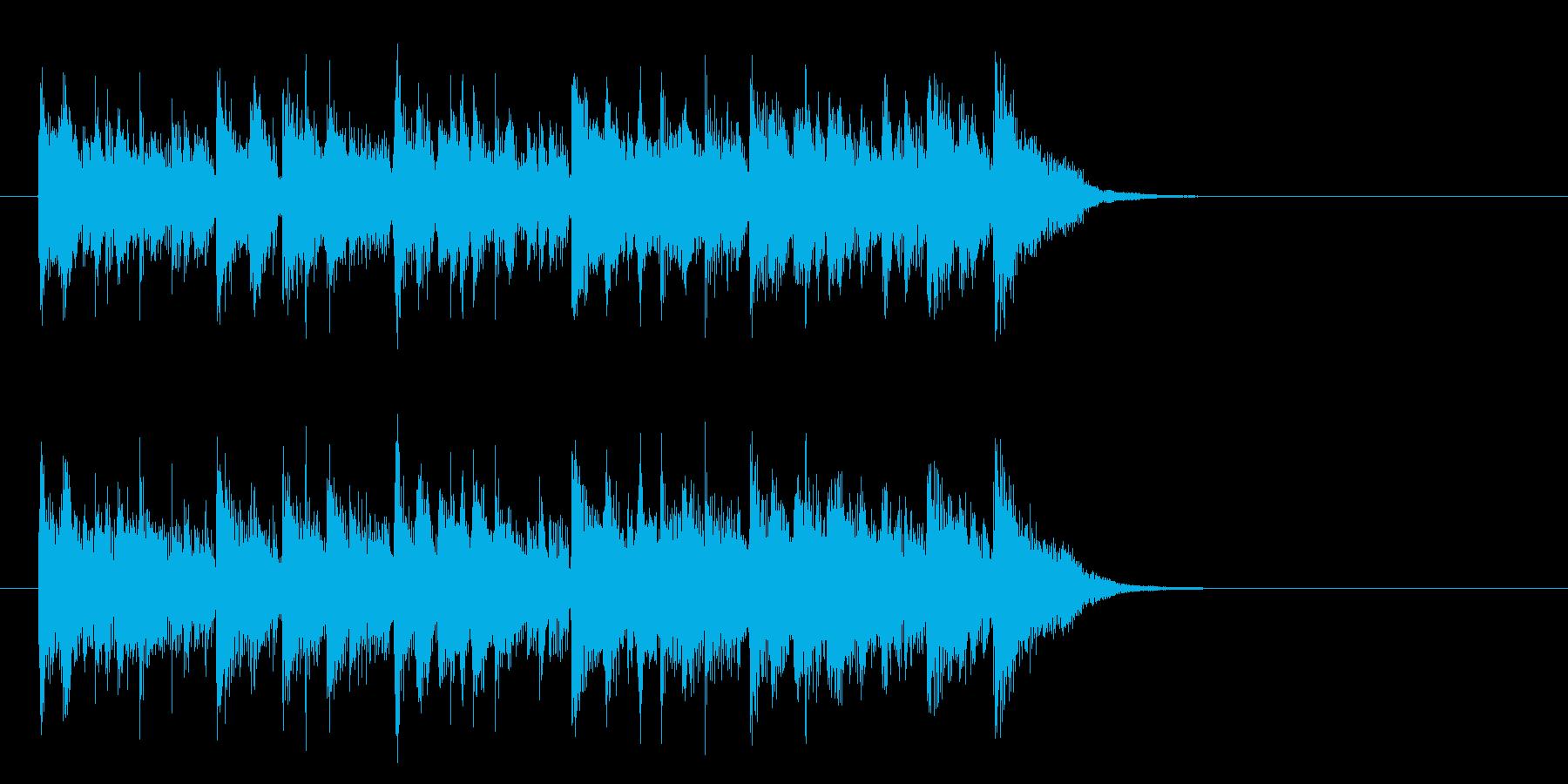 メロウなフュージョン(サビ)の再生済みの波形