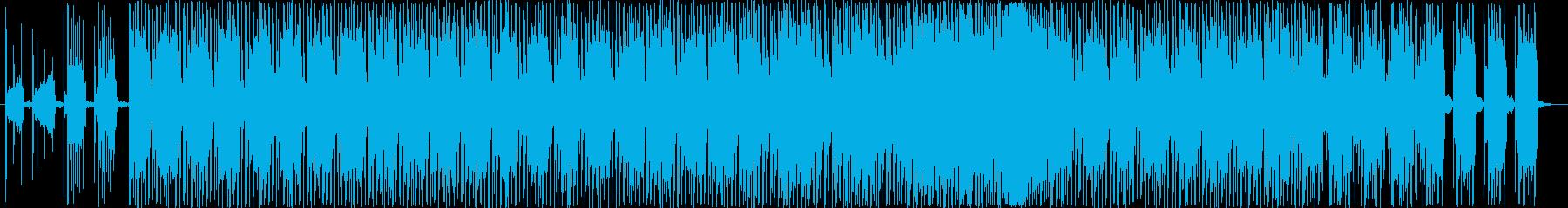 浮遊感のあるエレクトロサウンドの再生済みの波形