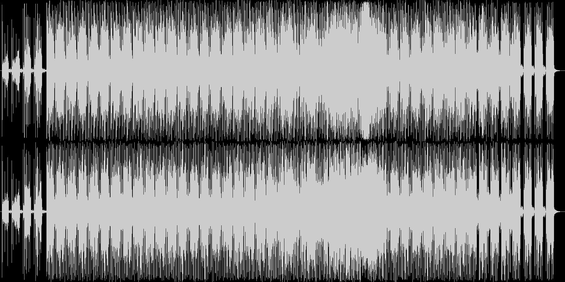 浮遊感のあるエレクトロサウンドの未再生の波形