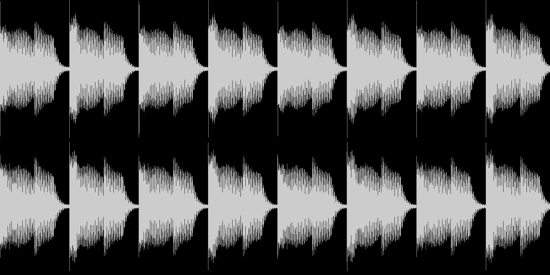 BPM128EDMリズムループキーFの未再生の波形