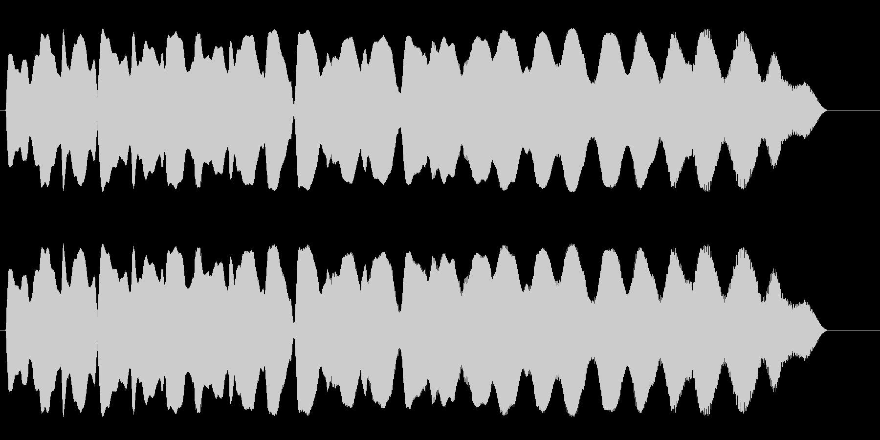 かすれたような余韻の落下音の未再生の波形