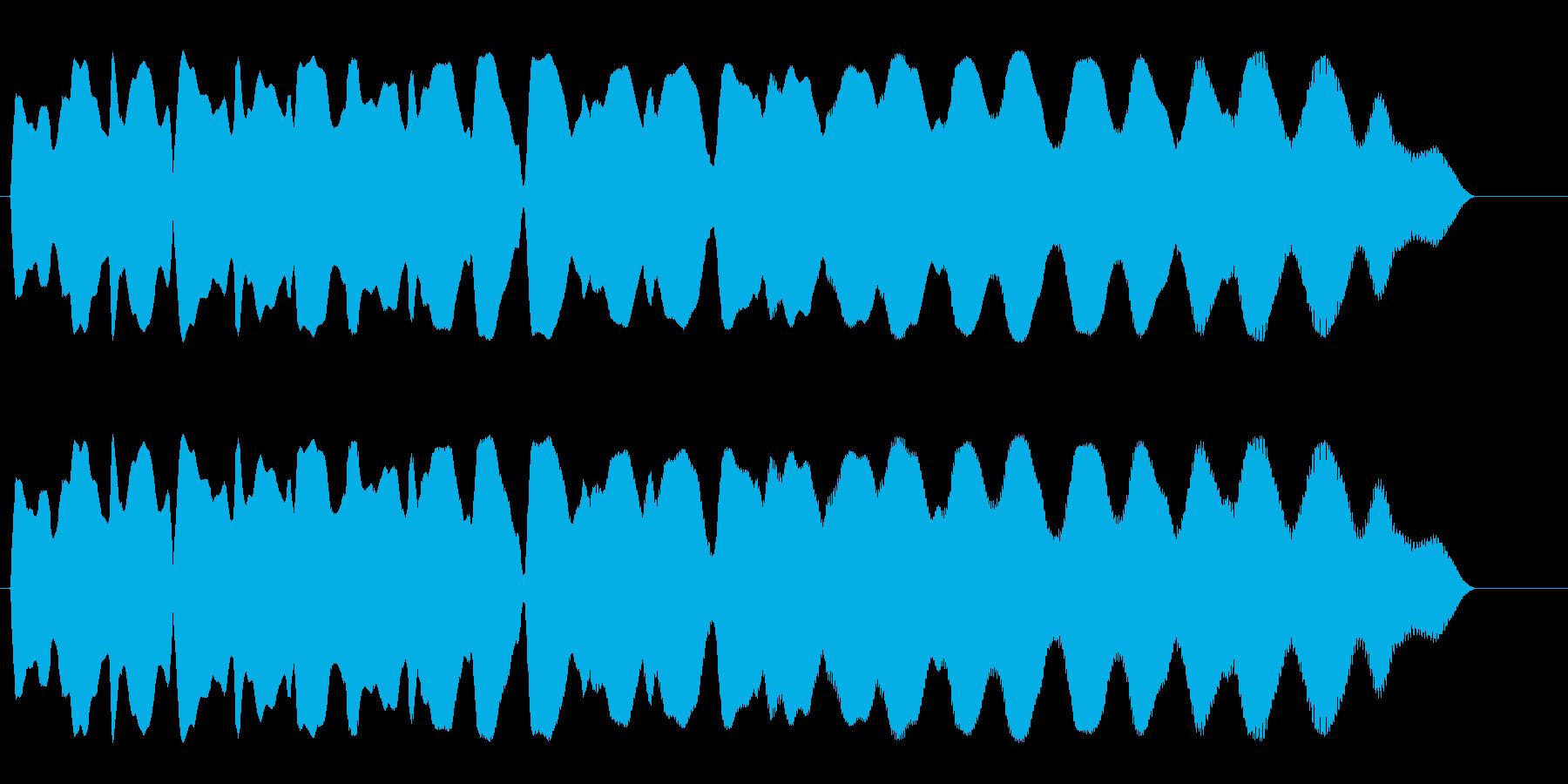 かすれたような余韻の落下音の再生済みの波形