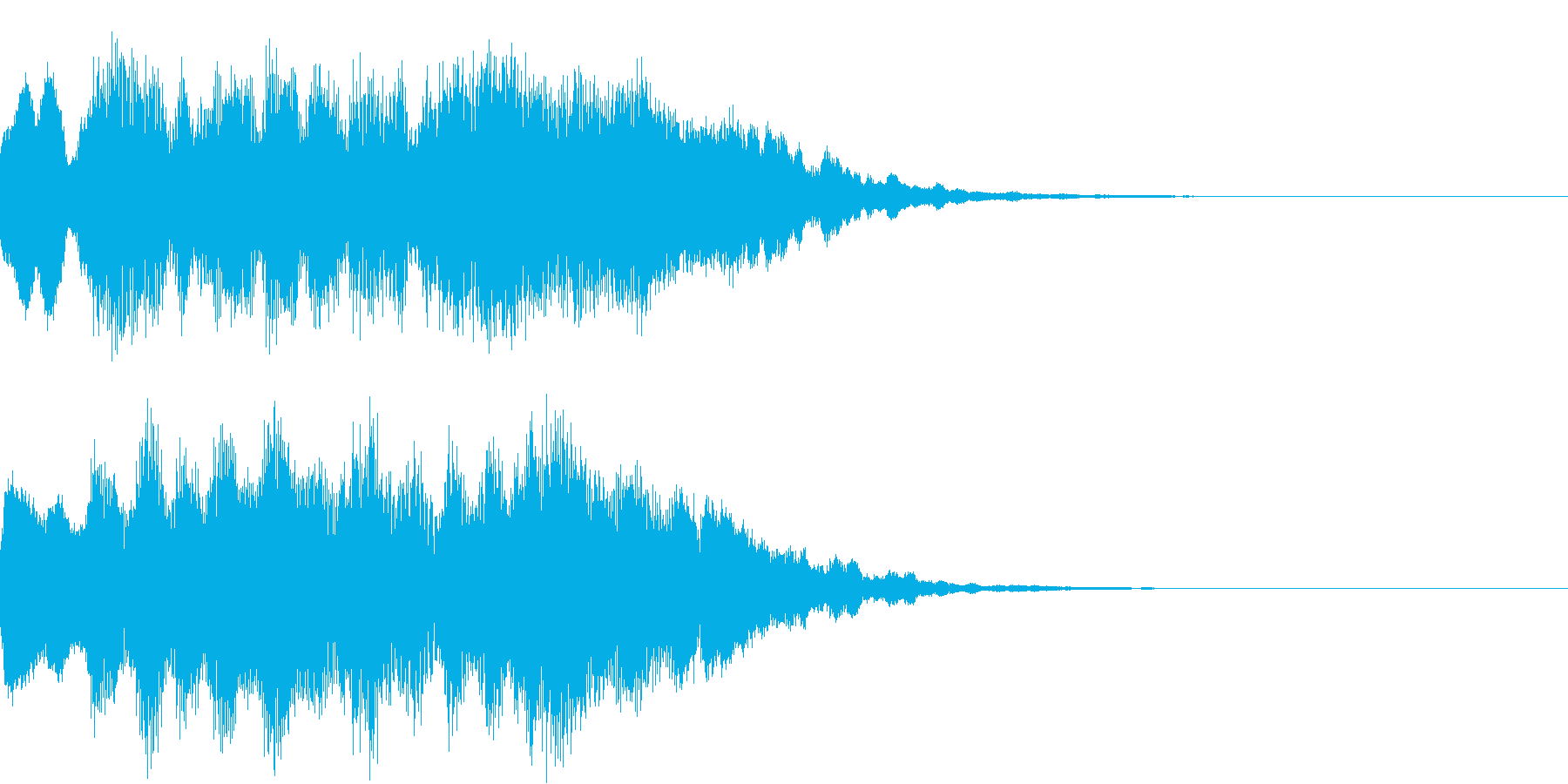 神秘的なクリスタル音01- ジングルCMの再生済みの波形