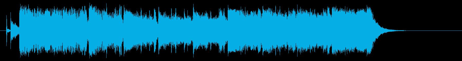 疾走感ある短いシンセサイザーの曲の再生済みの波形
