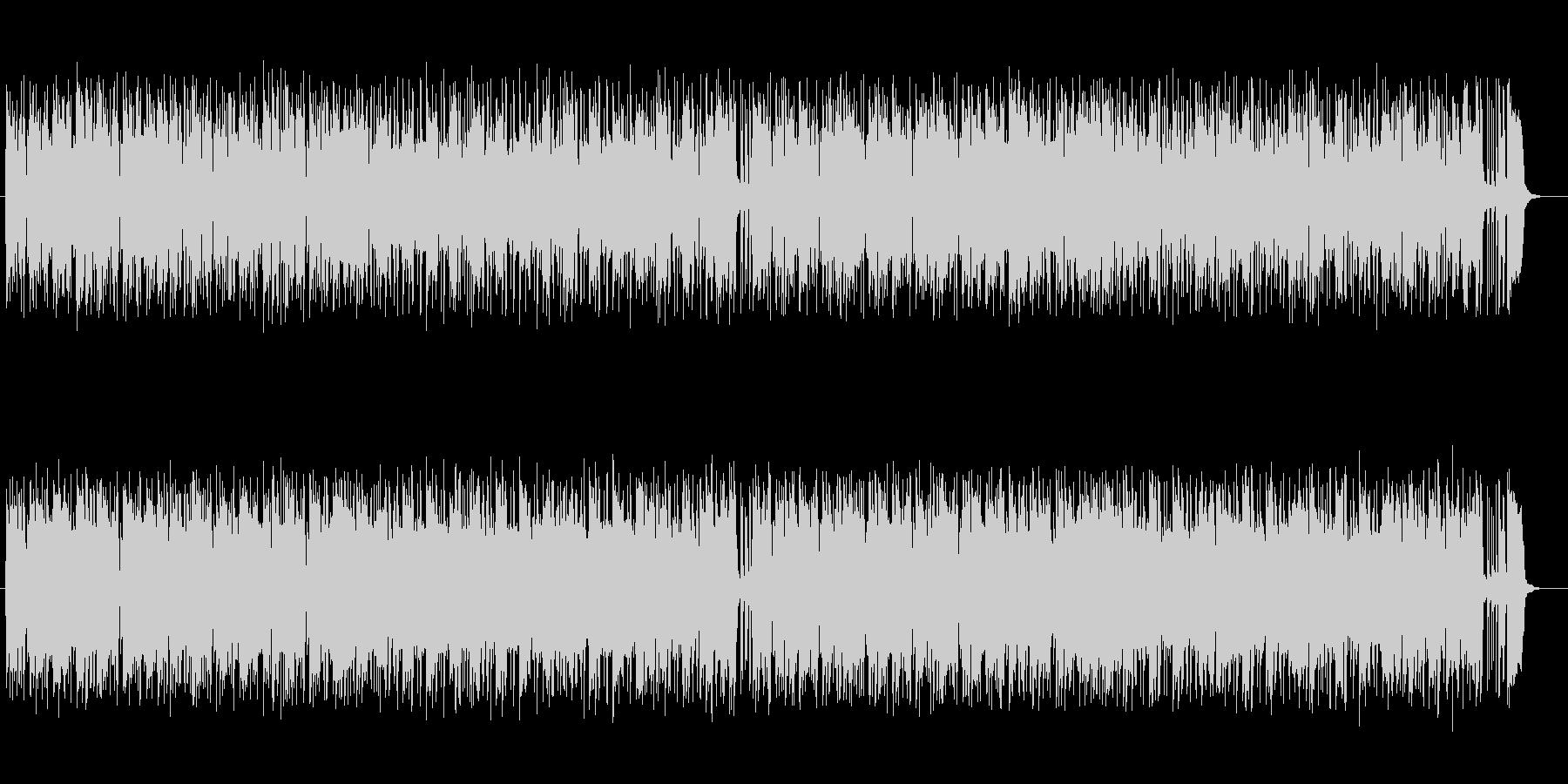 軽やかなギターとテクノ融合ポップサウンドの未再生の波形