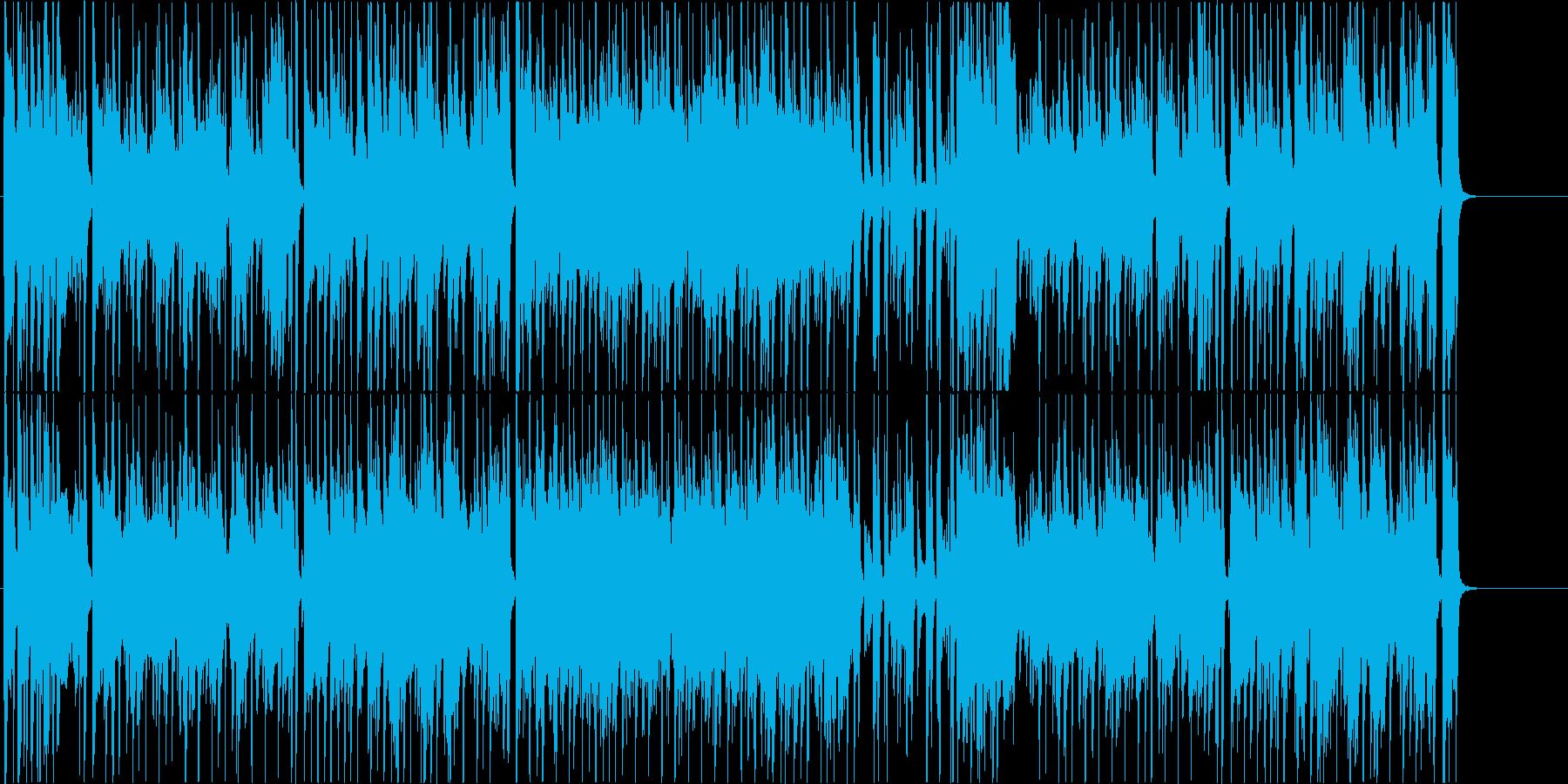 ジャズ風のまったりしたBGM。の再生済みの波形