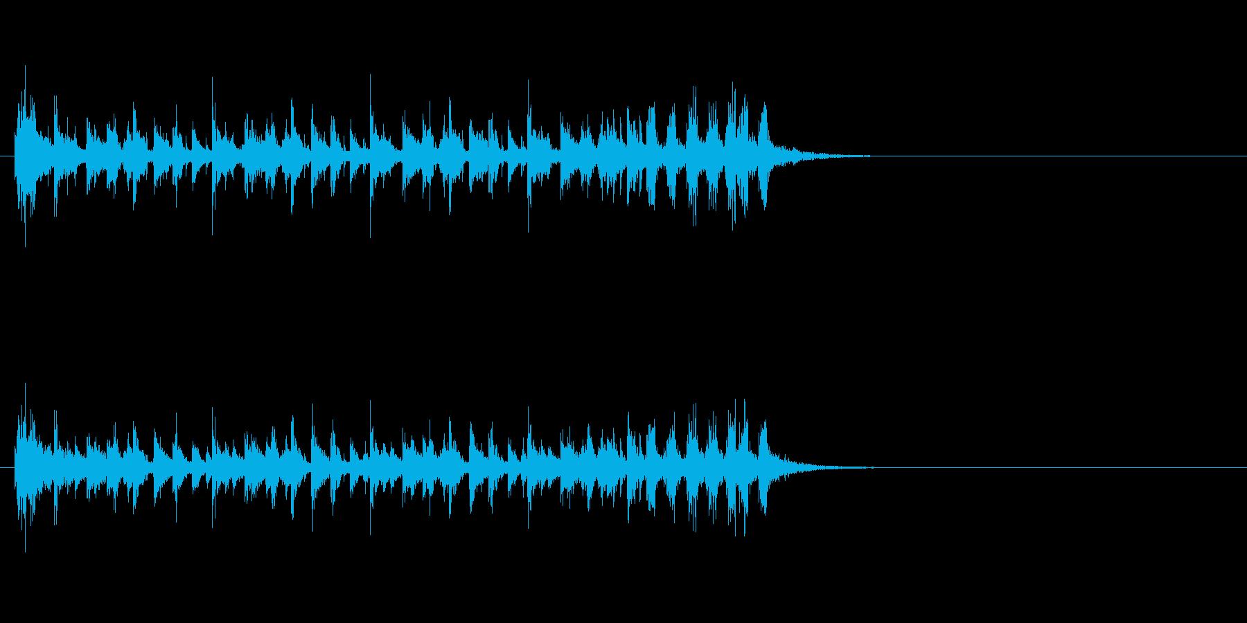ジングル(ファンキーなハウス系)の再生済みの波形
