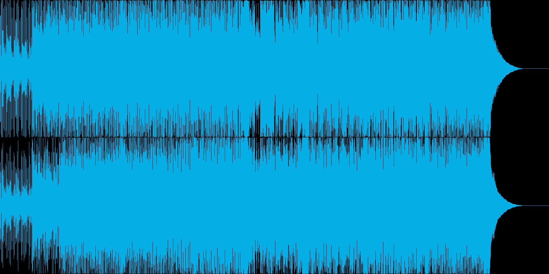 三味線や琴などの和楽器メインの和風ロックの再生済みの波形
