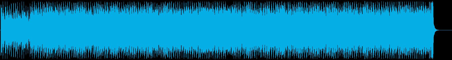 軽快で明るいテクノポップの再生済みの波形