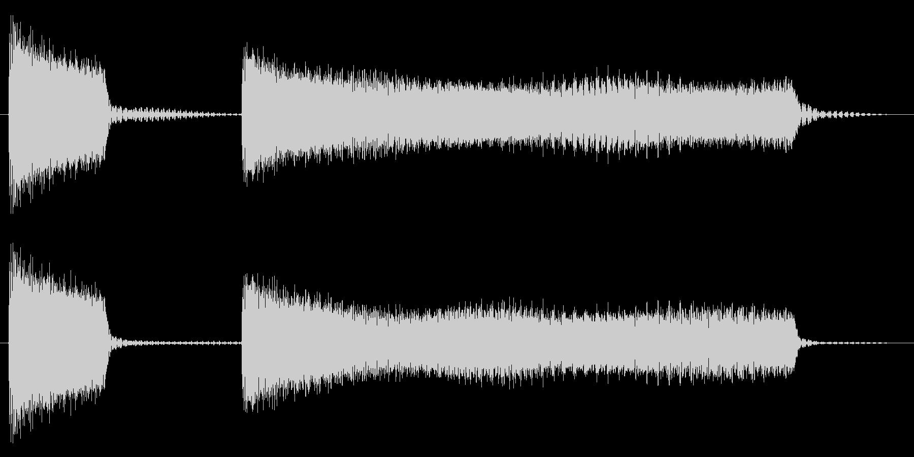 ブッブーッ/不正解/クイズの未再生の波形