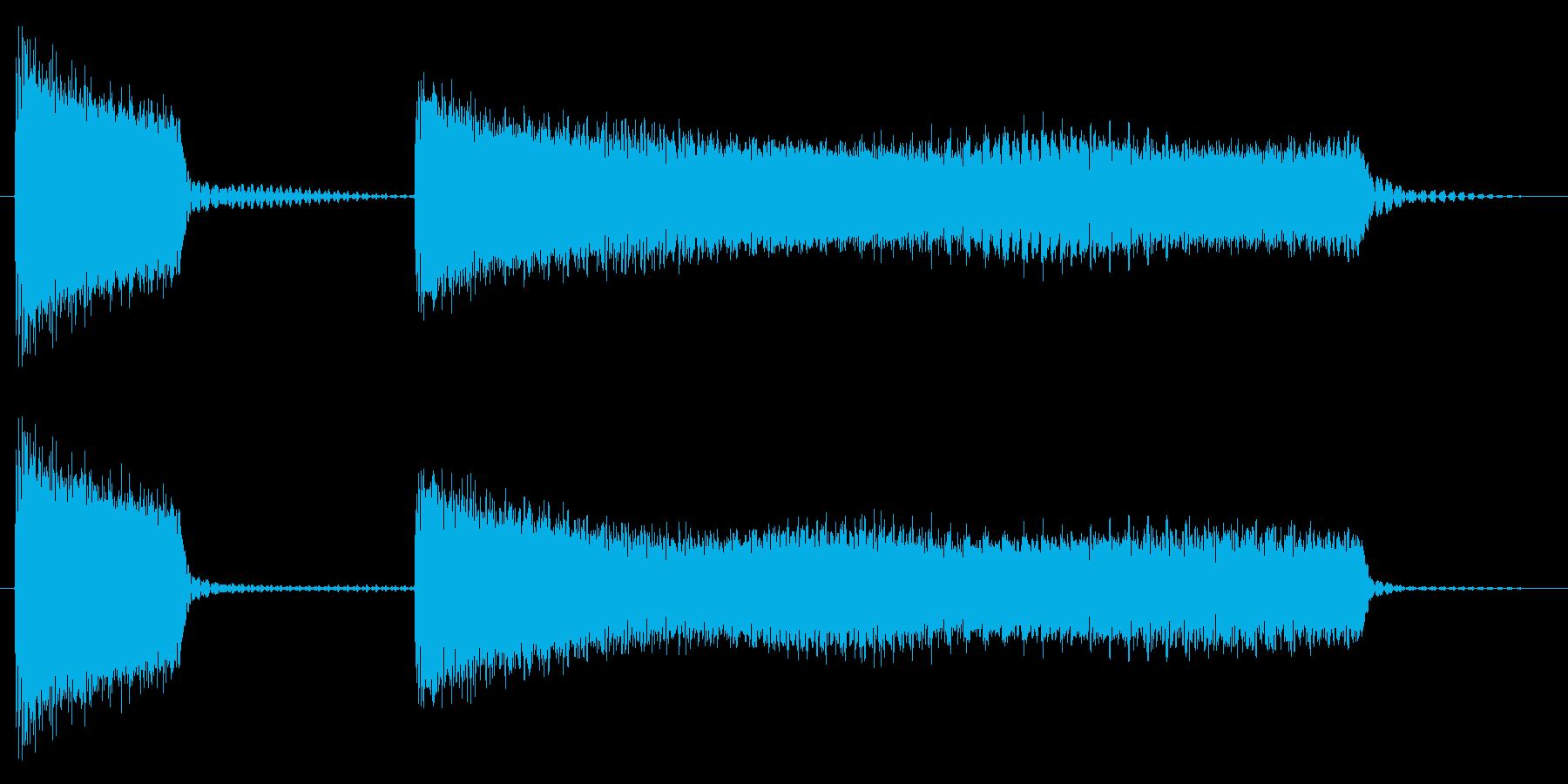 ブッブーッ/不正解/クイズの再生済みの波形