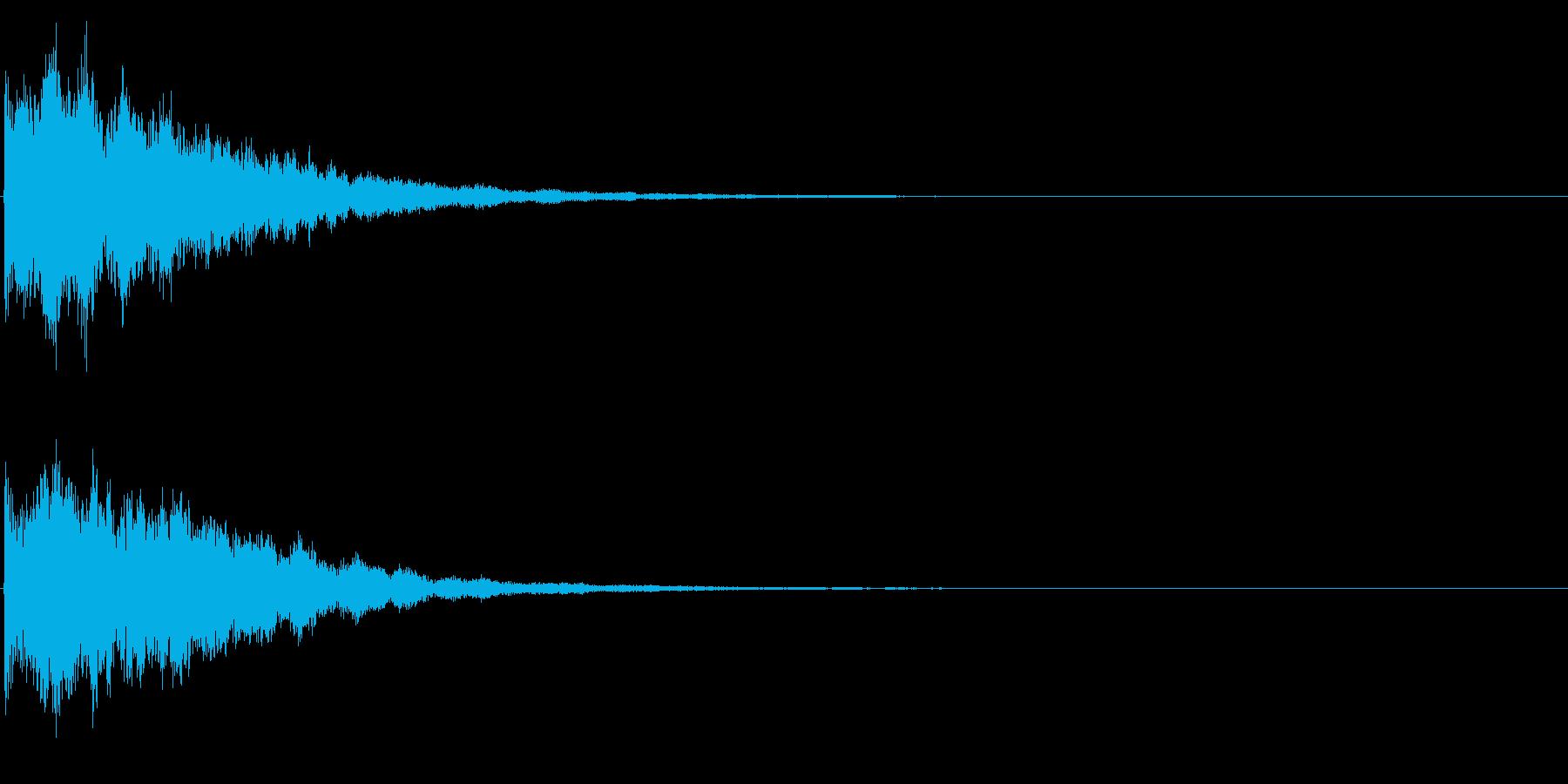 ゲームスタート、決定、ボタン音-044の再生済みの波形
