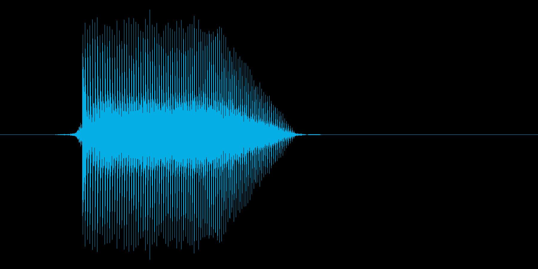 ゲーム(ファミコン風)ジャンプ音_010の再生済みの波形