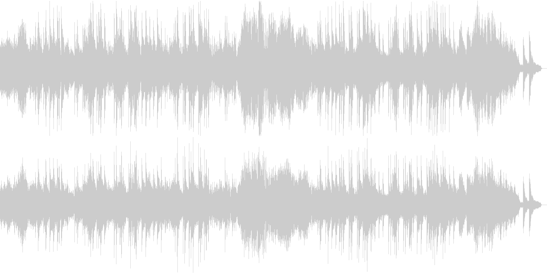 ベートーヴェンのピアノソナタ第14番の未再生の波形