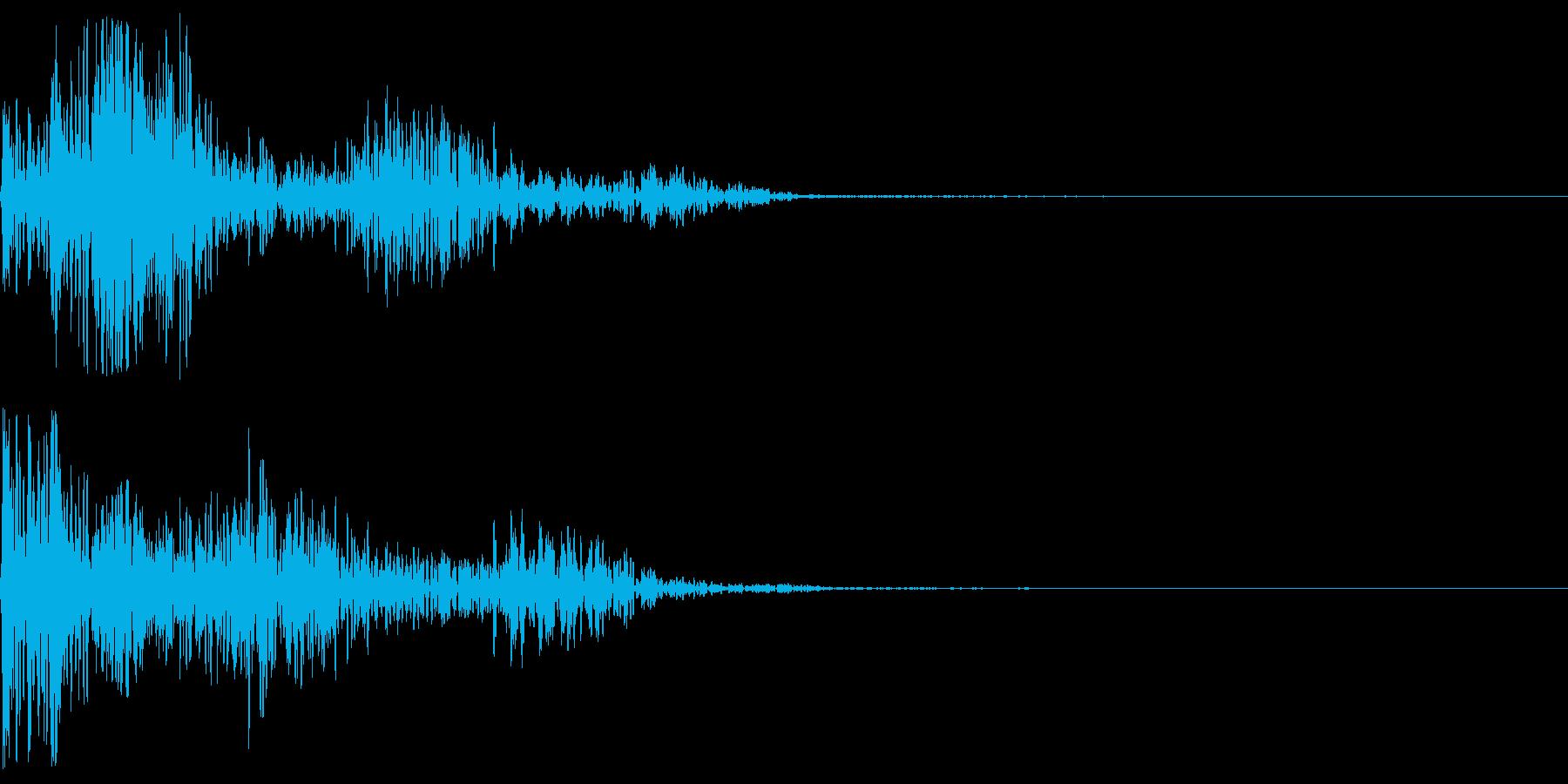 巨大ロボットの足音の再生済みの波形