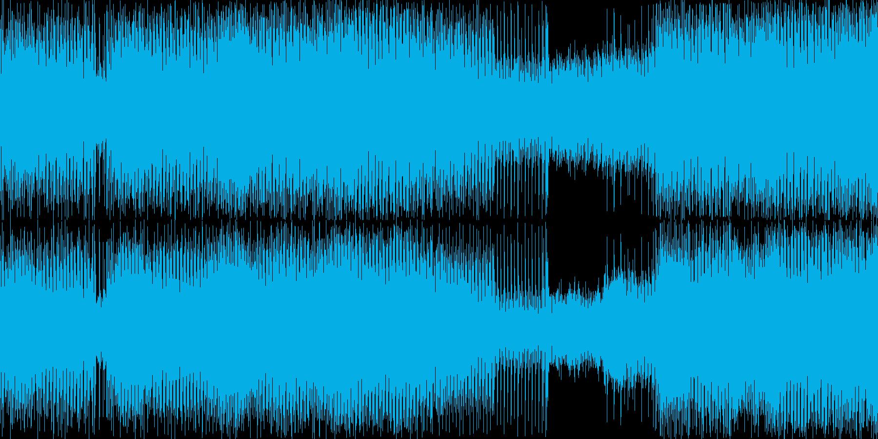 アクション場面を想定した疾走感あるテクノの再生済みの波形