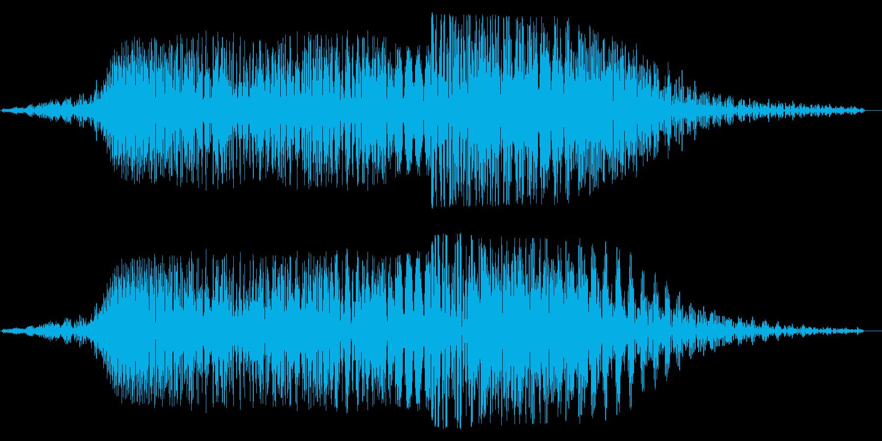 ブーンゴワーン(電子音とこもり音の合体)の再生済みの波形