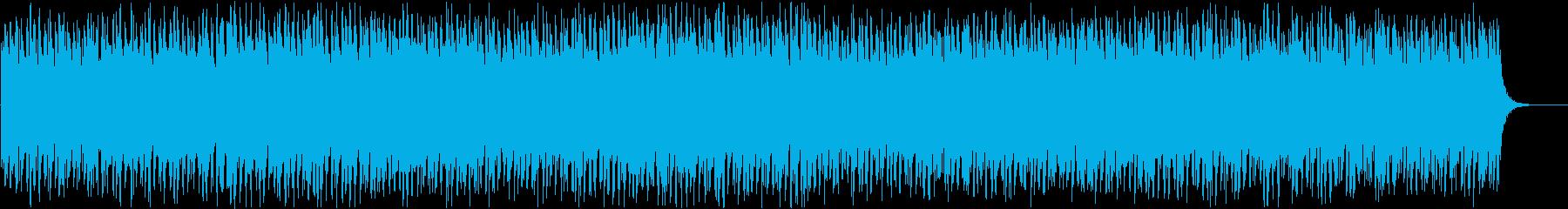 テンポの早い映画・ゲーム戦闘BGMの再生済みの波形