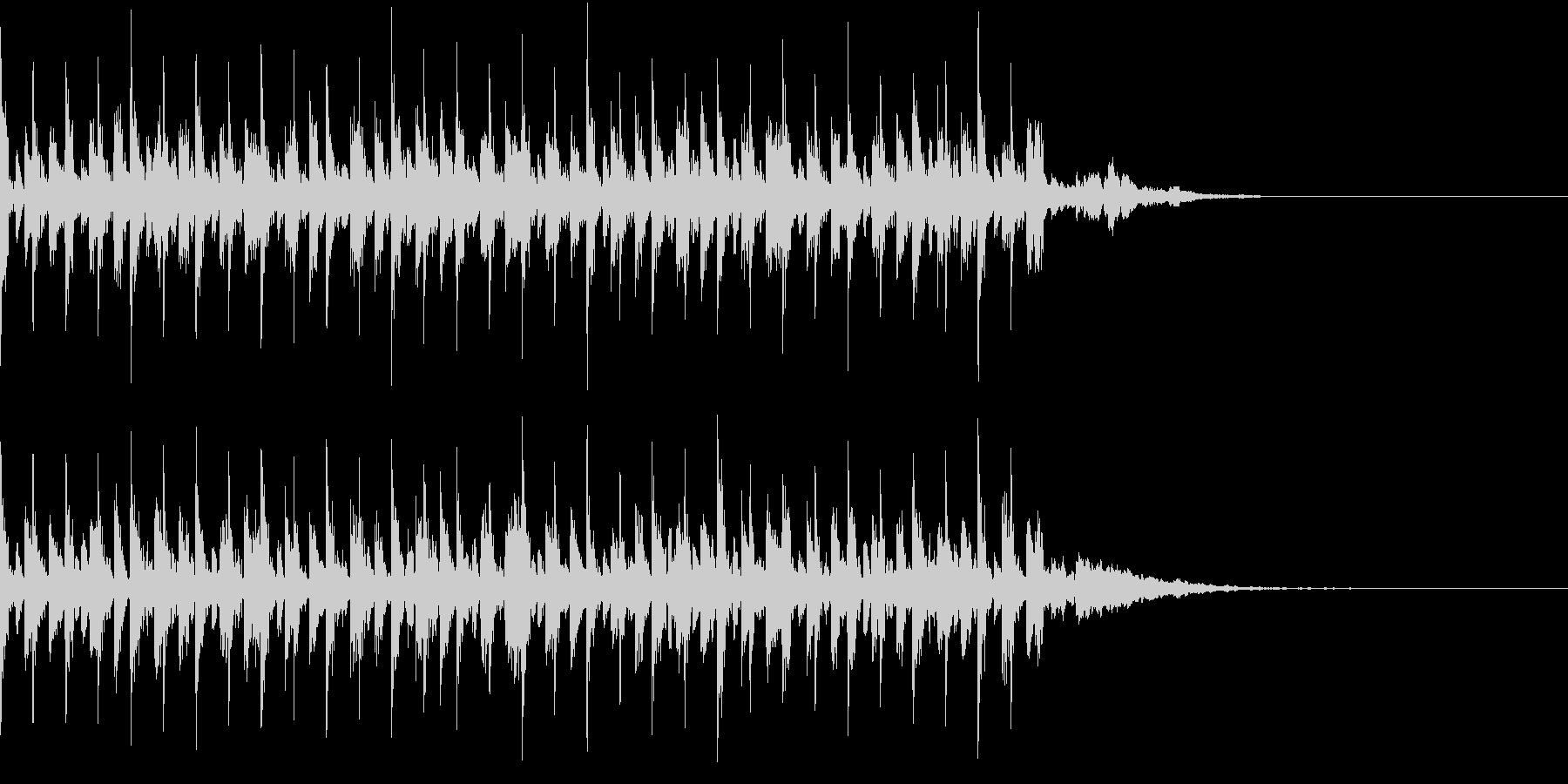 アンダーグラウンドなテクノ調のBGMの未再生の波形