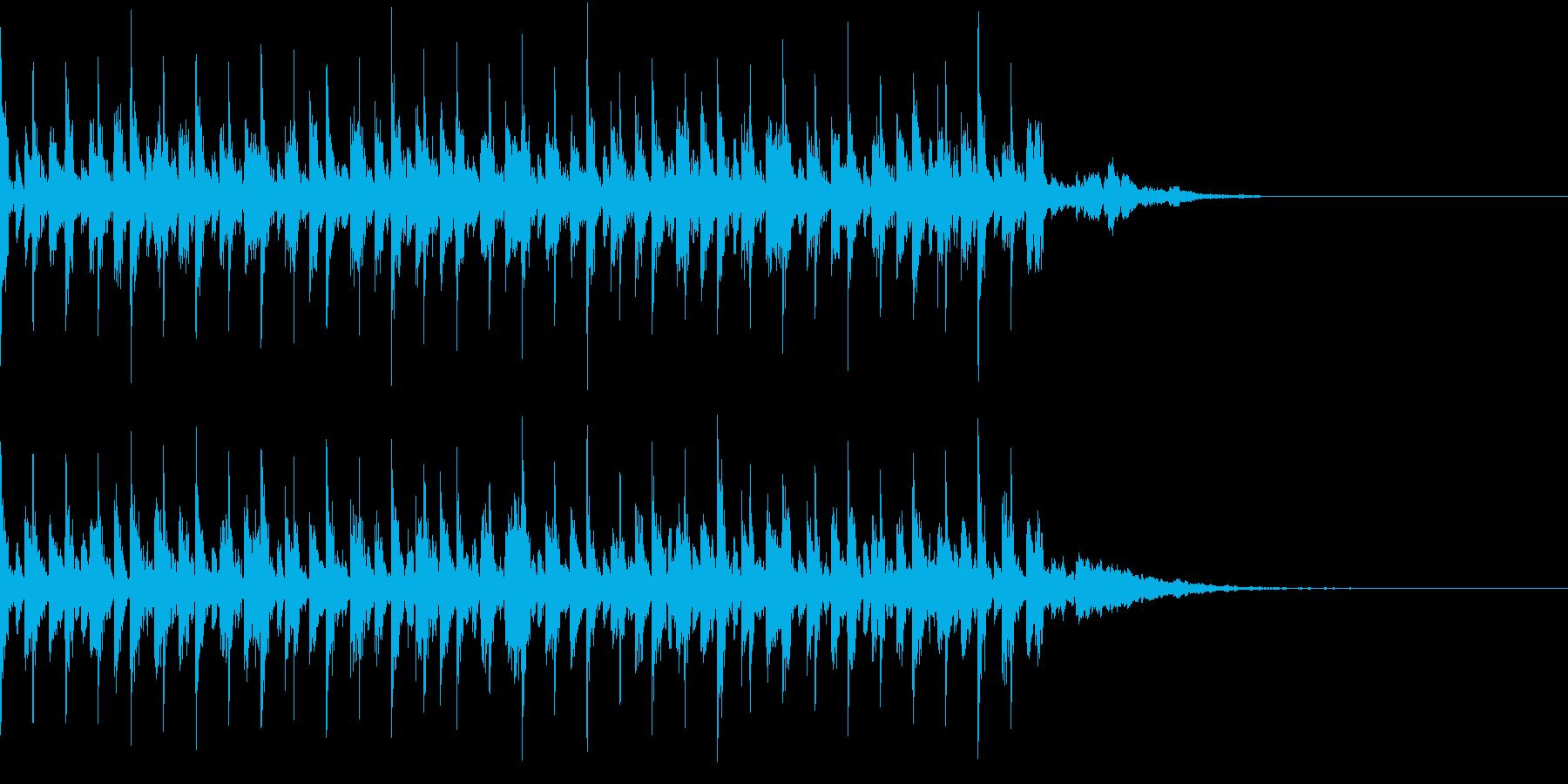 アンダーグラウンドなテクノ調のBGMの再生済みの波形