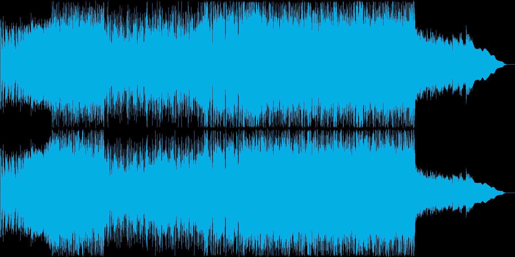 ミドルテンポのシンプルで少し荒っぽいU…の再生済みの波形