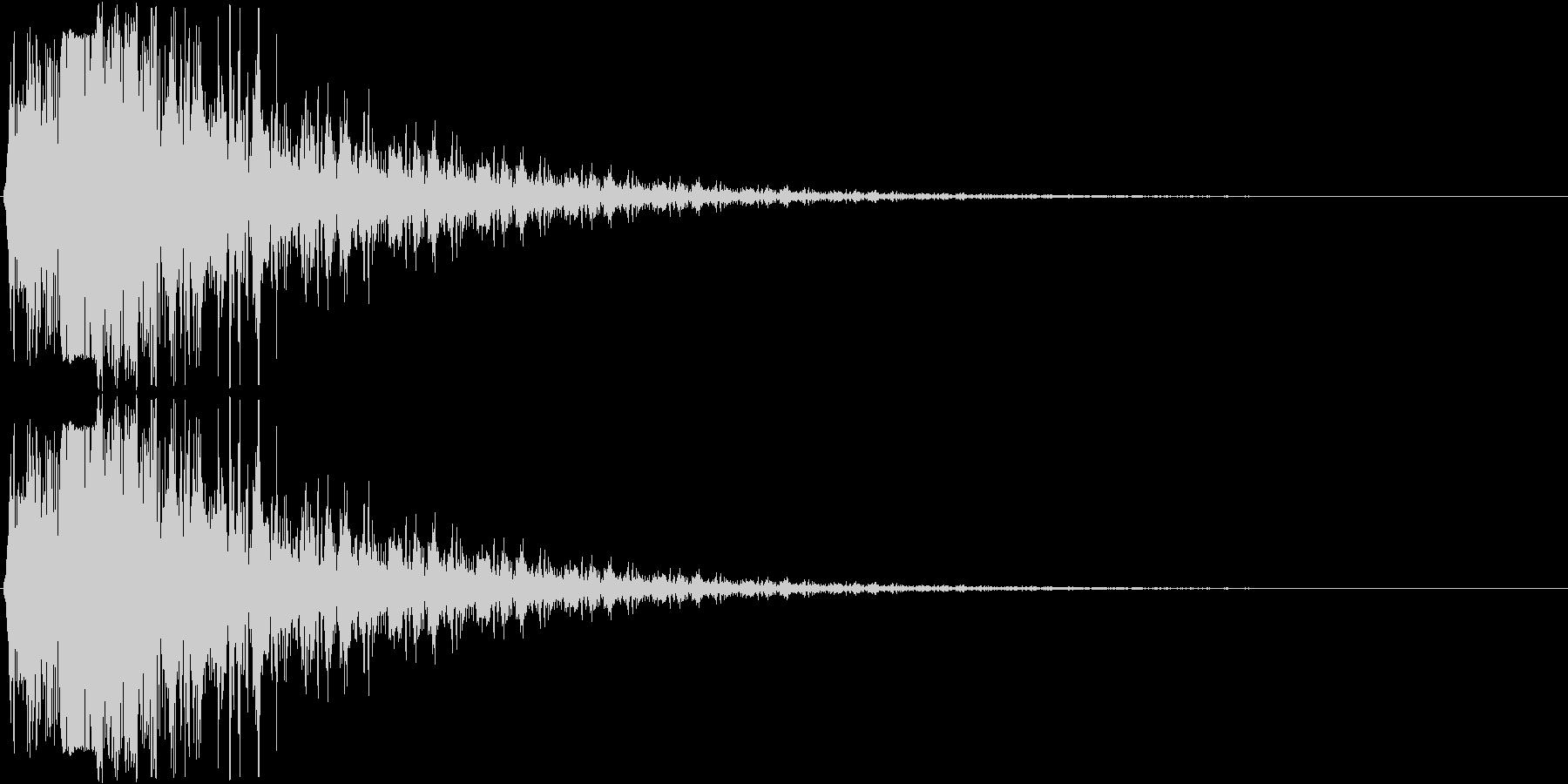 消滅、ヒット音などのイメージの未再生の波形