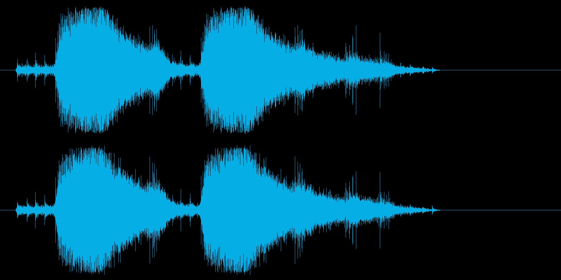 チェーンソーやバイクのエンジン音3の再生済みの波形