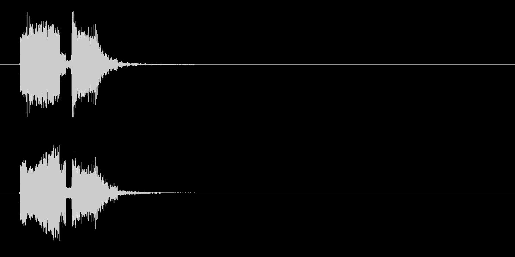 ビヨヨン、ジャン(コミカル、オチ)の未再生の波形