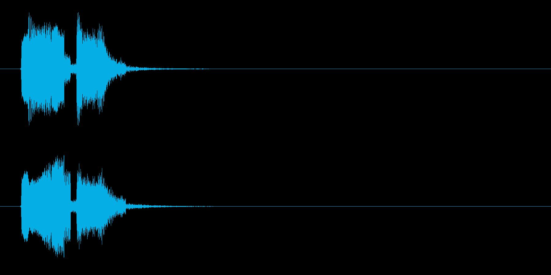 ビヨヨン、ジャン(コミカル、オチ)の再生済みの波形