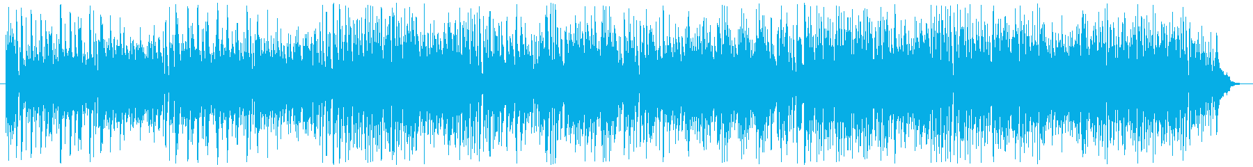 ボサノバ調のかわいらしい曲の再生済みの波形