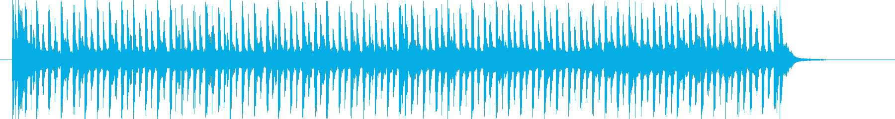 緩やかなスピード感のテクノポップジングルの再生済みの波形
