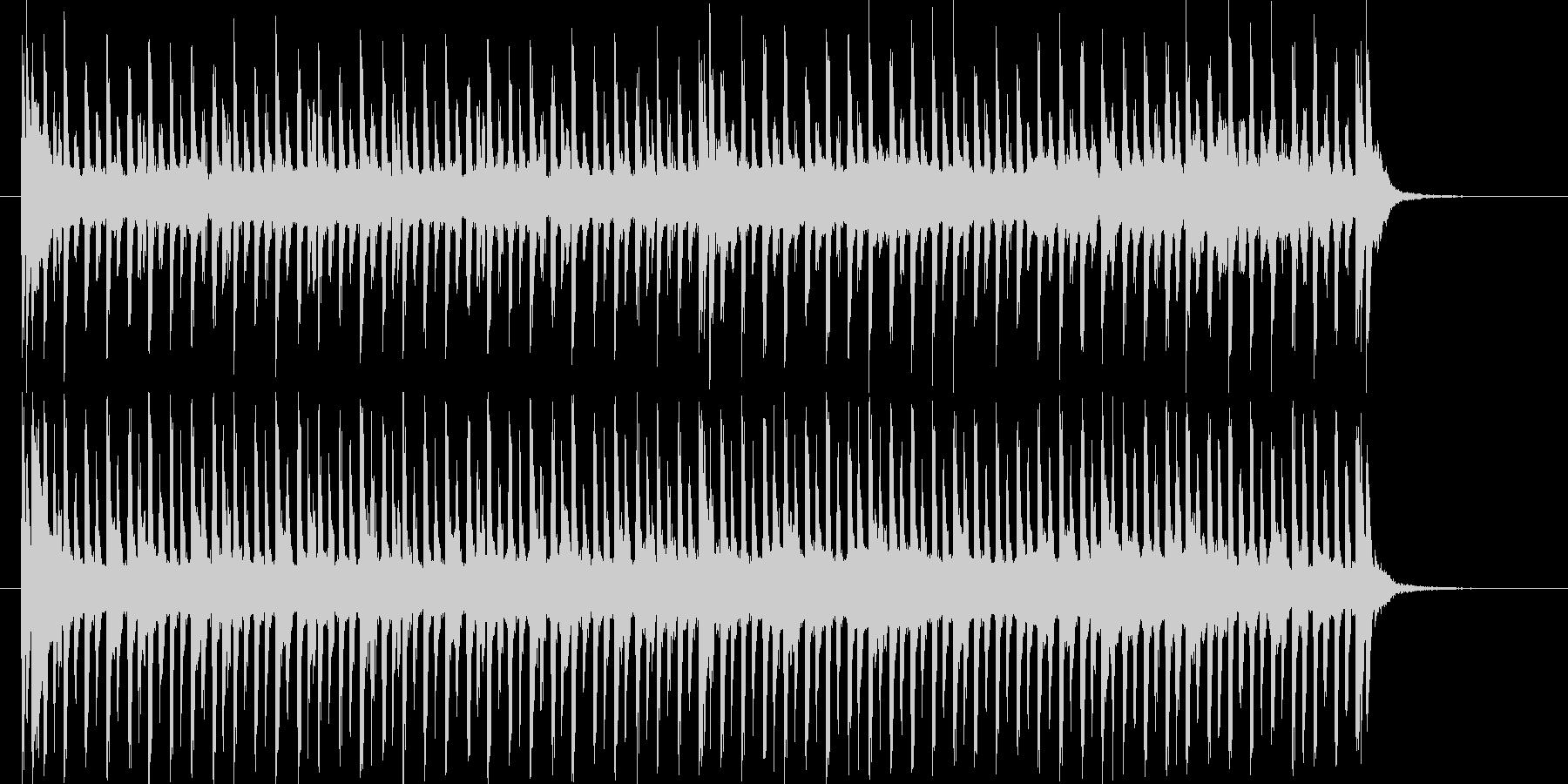 緩やかなスピード感のテクノポップジングルの未再生の波形